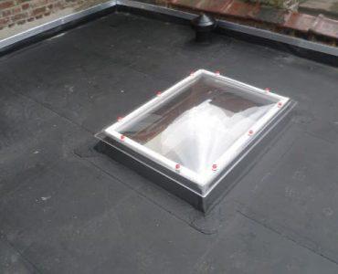 Plat dak in Resitrix